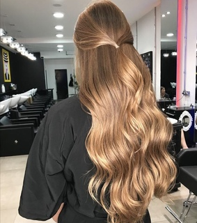 blond, cheveux and coiffe