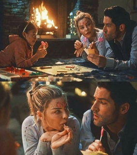 lauren german, tom ellis and chloe decker