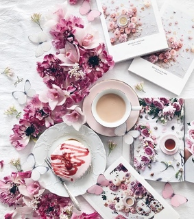 aesthetic, butterflies and coffee