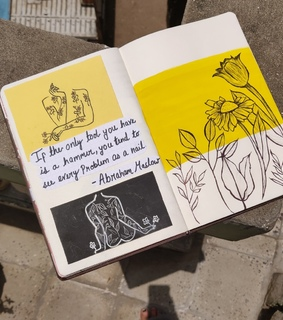 art, aesthetic journals and yellow