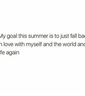 self worth, positivity and summer goal