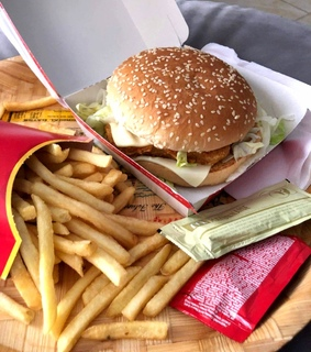 fries, yummy and burger