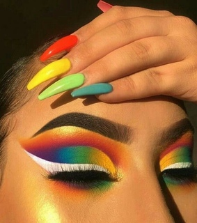 beauty, colours and eyeshadow