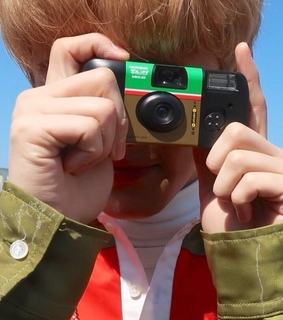 boy, camera and detail