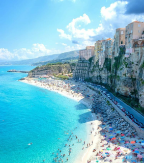 beach, buildings and italy