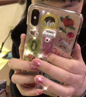 phone, hands and sticker