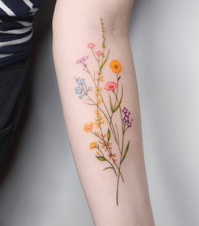 floral, flowers and inked