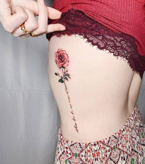 Tattoos, floral and floral tattoo