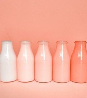 bottles, tumblr and ombre