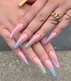 colorful, colorful nails and so pretty