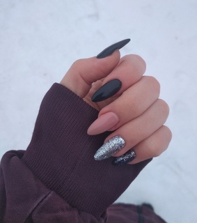 beauty, black nails and girl things