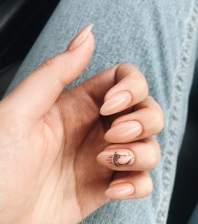 Nude, beauty and manicure