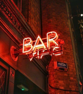 bar, red and led
