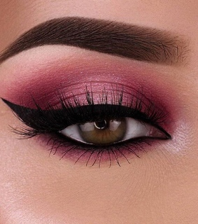 beauty, brows and dramatic makeup