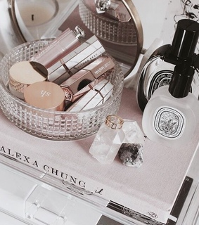beauty, book and cosmetics