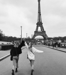 bff, eiffel tower and france