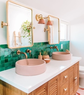 bathroom, bathroom decor and green
