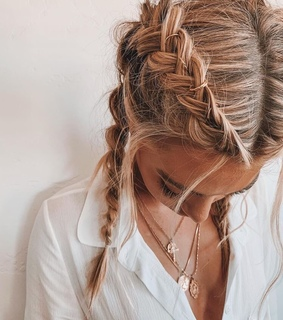 aesthetic, blonde and braids