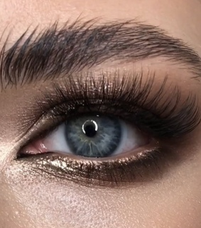 blue, brown and eye