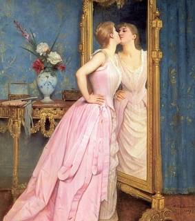 victorian, art and mirror