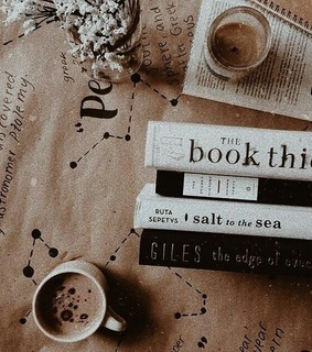 books, coffee and pictures