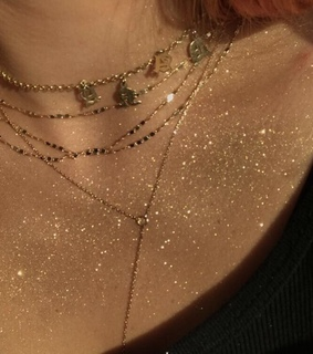 glitter, gold and letters