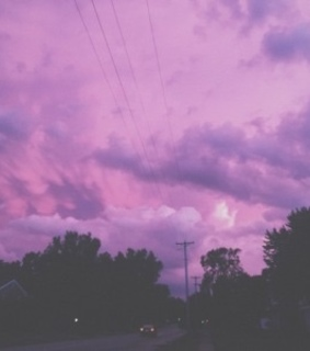 purple, sky and sunset