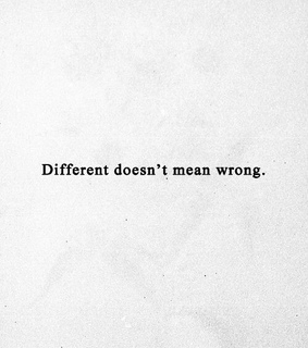wrong and different
