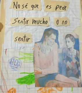 Collage, draw and frases