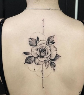 Tattoos, back and black