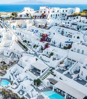 Greece, aerial view and cities