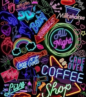 aesthetic, neon and tumblr
