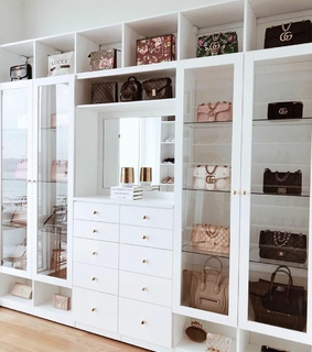 bags, closets and fashion