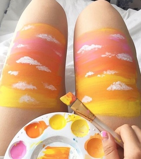 body paint, carefree and indie