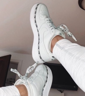 white, nike and air force
