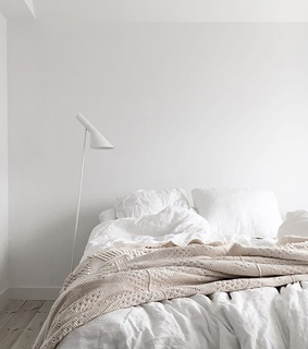 bed, white and warmth