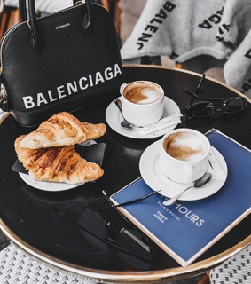 croissants, food and cappucino