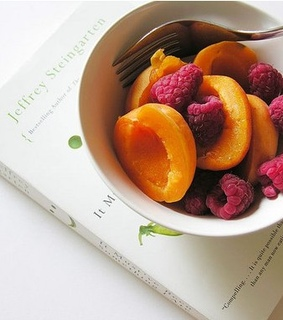 book, fruit and morning