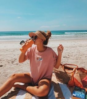 beach, girl and happiness
