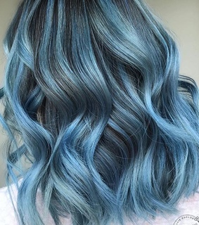 blue, coloredhair and colorful