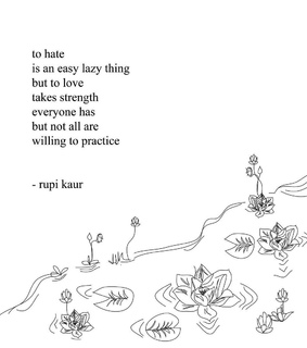 rupi kaur, strong and love is love