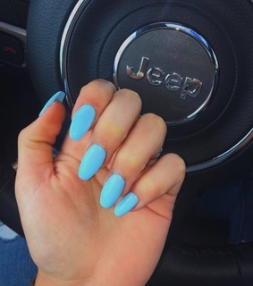 acrylic nails, baby blue and pastel