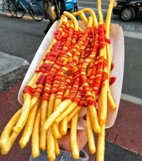 French Fries, food and ketchup