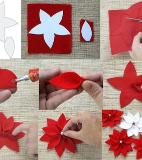 red, diy and flores
