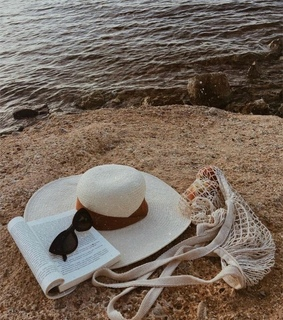 beach, book and cool