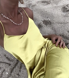 beach, dress and earrings