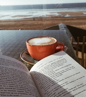 book, coffe and inspiration