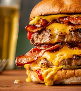bacon, burger and cheese