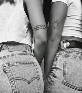 Tattoos, aesthetic and bff