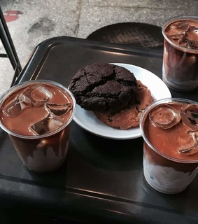 Cookies, chocolate and coffe